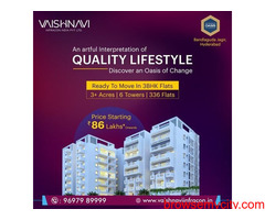 3 bhk flats for sale in Hyderabad | Vaishnavi Infracon