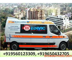 Hire Medical Emergency Ambulance Service in Vikash Nagar by Medivic