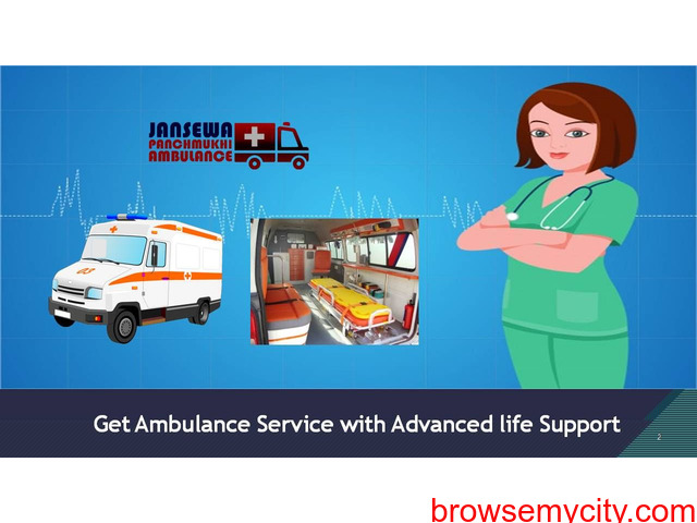 Avail Smart Life Supported Ambulance Service in Kankarbagh at Anytime - 1/1
