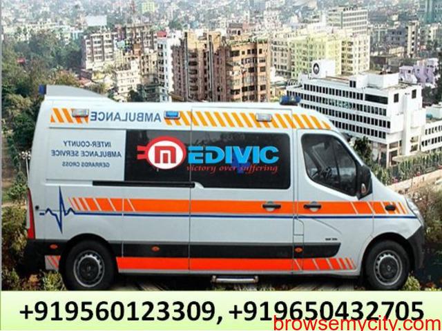Medivic Ambulance Service in Jamshedpur with Hi-Fi ICU Facility - 1/1