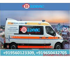 Pick Hi-Fi ICU Ambulance Service in Hazaribag at Low-Fare by Medivic