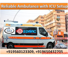 Take Marvelous Ambulance Service in Ratu with ICU Setup by Medivic