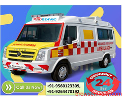 Book Immediate Medivic Ambulance Service in Patna with ICU Doctor Facilities