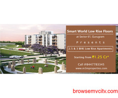 Smart World Low Rise Floors Sector 61 Gurugram | Right In The Middle Of The City