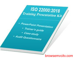 ISO 22000 Auditor Training – PPT Presentation Kit