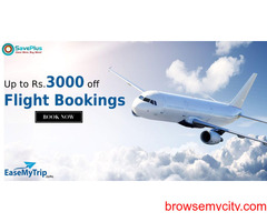EaseMyTrip coupons, offers: Up to Rs.3000 off Flight Bookings