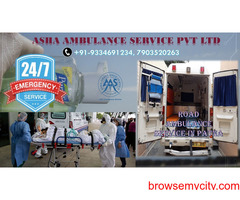 Book Road Ambulance Service with Medical Bed-2-Bed Service  ASHA