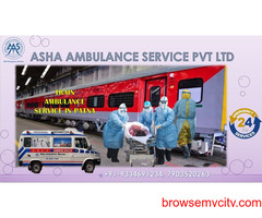 Get a Train Ambulance Service with low cost, better bed-2-bed service  ASHA
