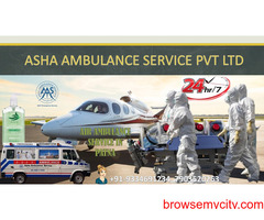 Book Air Ambulance Service with 24-hour bed-2-bed service  ASHA