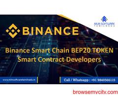 Binance Smart Chain BEP-20 token Smart contract Developers –MLM Software Tamilnadu