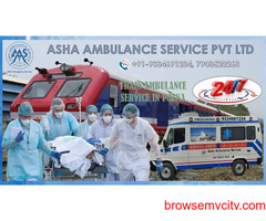 Book an experienced medical Train Ambulance Service with low cost  ASHA