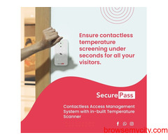 Contactless Access Management System with in-built Temperature Scanner