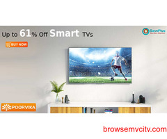 PoorvikaMobile Coupons, Deals: Up to 61% Off Smart TVs