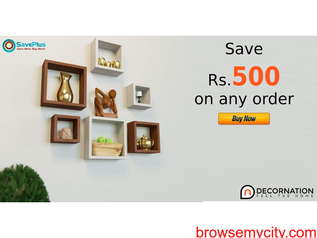 Decornation Coupons, Deals: Save Rs.500 on any order - 1/1