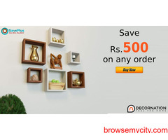 Decornation Coupons, Deals: Save Rs.500 on any order