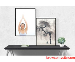 Buy Premium Canvas and Framed Print Wall Art Online