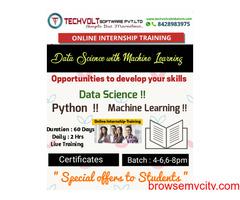 Online Internships | Data Science Training | Summer Internship | Techvolt  Software |Coimbatore
