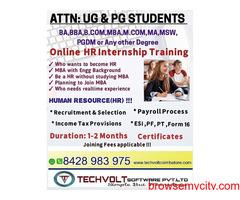 Online Internship | HR Internship | Techvolt Software | Coimbatore