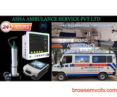 Dial Road Ambulance Service with authentic and registered bed-2-bed service  ASHA