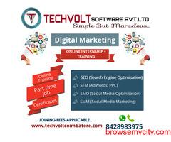 Online Internship | Summer Internship | SEO |  Techvolt Software | Coimbatore