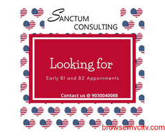 US VISA APPOINTMENT -B1 VISA and B2 Visa  services at Sanctum Consulting