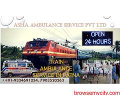Book Train Ambulance Service with Competent Price  ASHA