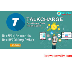 Up to 80% off Electronics plus Up to 12.6% Talkcharge Cashback