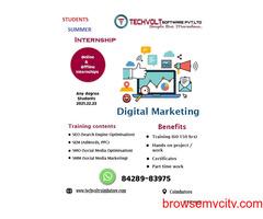 Online Internships |SEO Training | Summer Internship | Techvolt  Software | Erode,Salem,Madurai