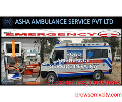 Hire a low cost Road Ambulance Service with an experienced medical team  ASHA