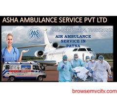 Ensure Air Ambulance Service with bed-to-bed service at affordable cost  ASHA