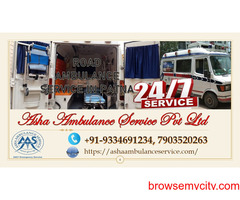 Hire Road Ambulance Service with highly popular medical equipment  ASHA