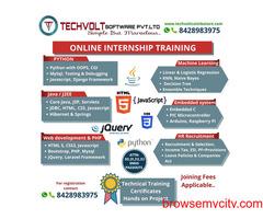 Online Internships | Final year Students | Techvolt  Software | Erode,Salem,Madurai