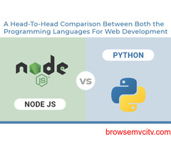 Node.js vs Python- a head-to-head comparison between both the programming languages
