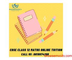 CBSE Class 12 Maths Online Tuition