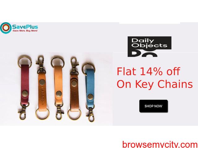 Flat 14% Off Key Chains - 1/1