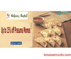 Nature'sBasket Coupons, Deals & Offers: Up to 15% off Prasuma Momos
