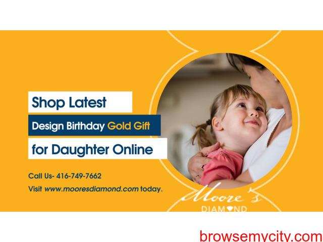 Shop Latest Design Birthday Gold Gift for Daughter Online - 1/1