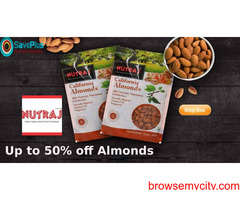 Up to 50% off Almonds