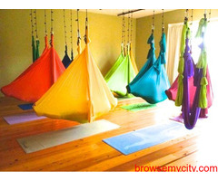 Track your best aerial yoga hammock kit from Yoga Swing Pro