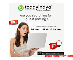 Free Guest Posting Service in India
