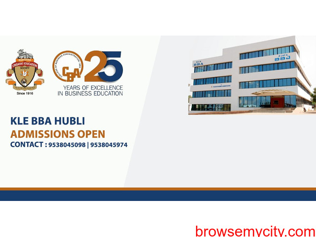 KLE's College of Business Administration Hubli – ADMISSIONS OPEN - 1/2