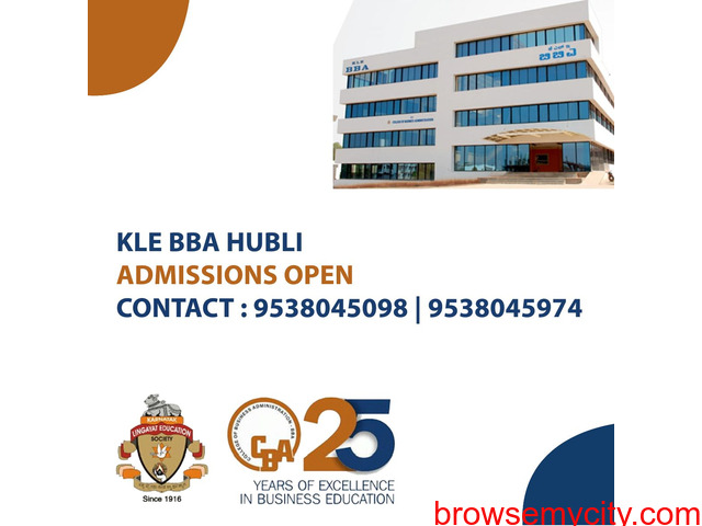 KLE's College of Business Administration Hubli – ADMISSIONS OPEN - 2/2