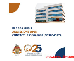 KLE's College of Business Administration Hubli – ADMISSIONS OPEN
