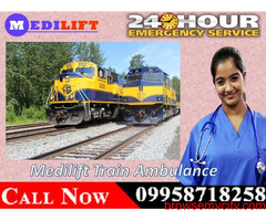 Medilift Provides Patient Transport Train Ambulance in Patna with Medical Facility
