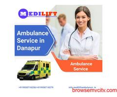 Emergency Ground Ambulance Service in Danapur by Medilift