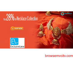 ExclusiveLane Coupons, Deals & Offers: Get 28% off Necklaces