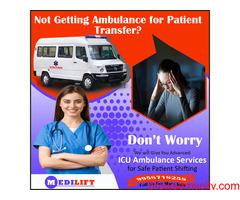 ICU Ambulance Service in Golaroad by Medilift