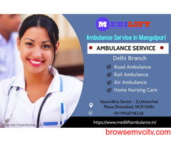 Emergency Ambulance Services in Mangolpuri by Medilift Can Save Your Loved Ones