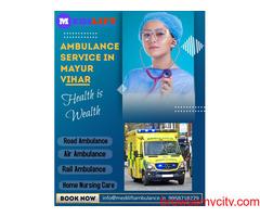 Quick Responsive Team by Medilift Ambulance from Mayur Vihar