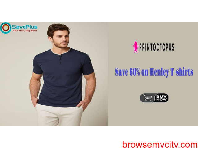 Save 60% on Henley T-shirts - 1/1